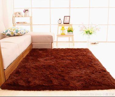 絲絨長毛地毯 防滑地墊
