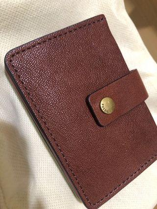 Fossil Mini Wallet Leather (Dompet Fossil/Card Holder Fossil/ Card Wallet)