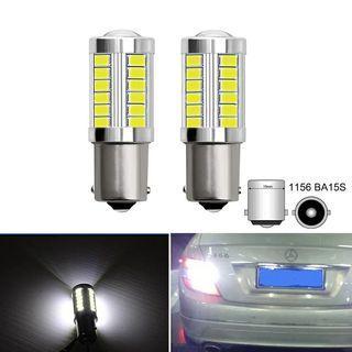 2x P21W 1156 BA15S LED Car Reverse Lamp Backup Lights For Mercedes W203 W204 C Class C180 C200 C250 C63 C280 C300 C350 2007-2014
