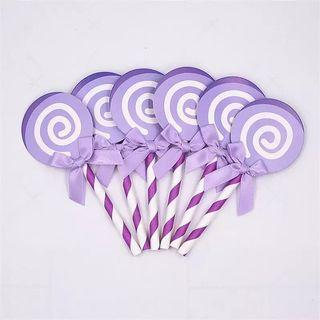 Purple Cupcake Toppers