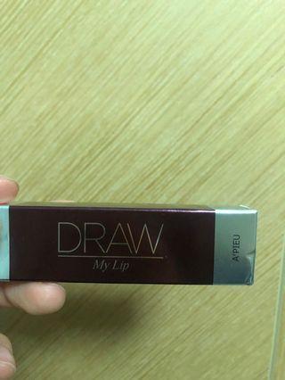 100%new 韓國 A'PIEU Draw My Lip 唇膏 VL01  2.5g 唇彩 口紅 義大利風情滑順顯色唇膏