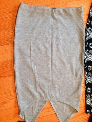SIRENS Grey Pencil Skirt