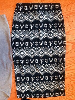 SUZY SHIER Black and White Printed Shirt