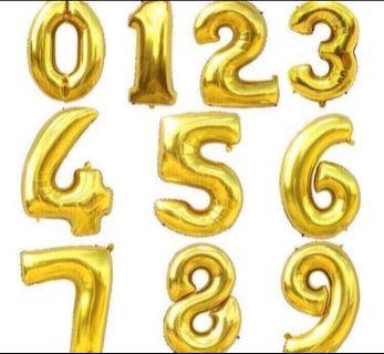 40inch gold number balloon