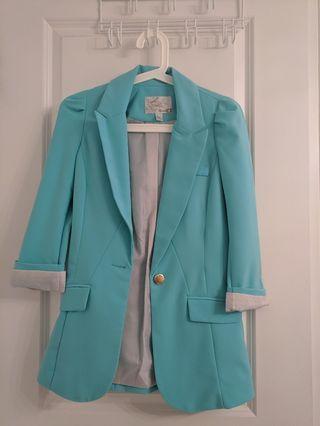 Blue green blazer