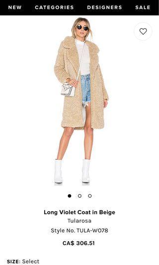 Revolve Teddy Coat XS