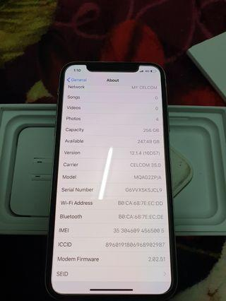 IPHONE X 256GB SILVER ZP SET SINGAPORE