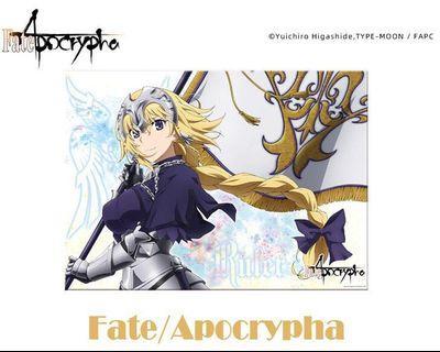 Fate 正版貞德銀箔poster