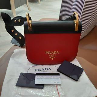 Prada Bag Pionniere Red-Black 2016