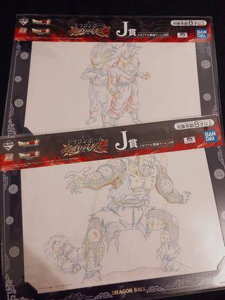七龍珠一番賞 J賞 回憶錄造型原畫
