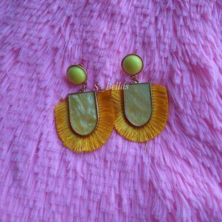 Tassel Drop Earrings Yellow