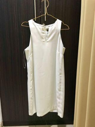 Mango White Dress size M