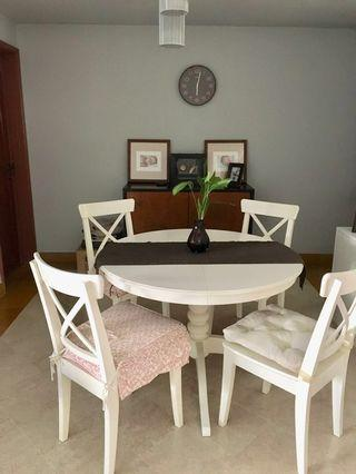 Extendable White Dining Table - till end of Jul