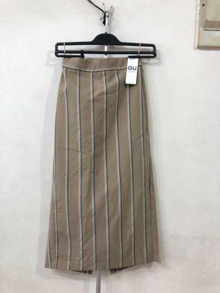 New! GU $170–> $80striped pencil midi skirt