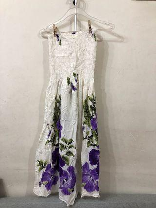 New! Thailand white floral summer dress