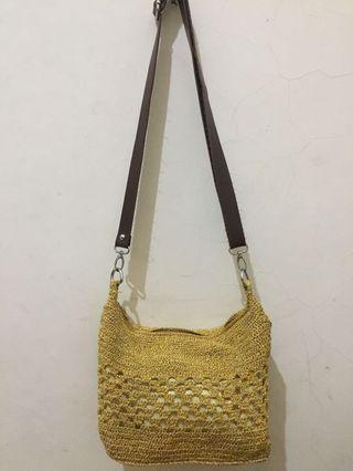 Sling bag rajut 100% handmade