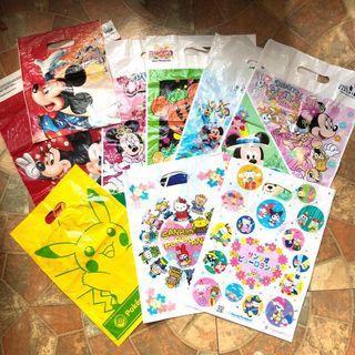 迪士尼樂園 海洋樂園 hello kitty樂園 神奇寶貝寶可夢樂園 節慶 週年慶 限定 塑膠提袋 購物袋 包裝袋 收藏