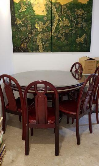 🚚 Rosewod dining set with 5 chairs