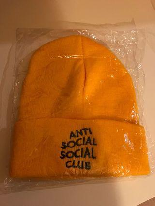 Anti social social club embroidered beanie