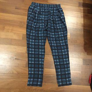 Blue checkered Slacks #JunePayDay60