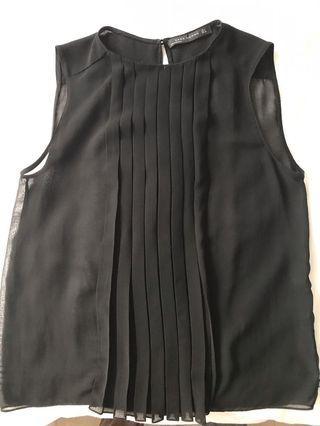 ZARA Black Sleeveless Sheer Top - M