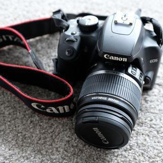 Canon 1000D with Canon EF-S 18-55mm f/3.5-5.6 IS STM lens