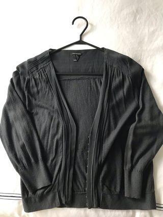 CLUB MONACO Cardigan with Silk Panels - Size M