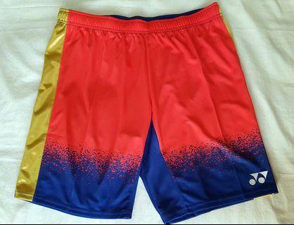 YONEX 15001LCW LEE CHONG WEI RIO OLYMPICS 2016 Blue Red Short Pants L