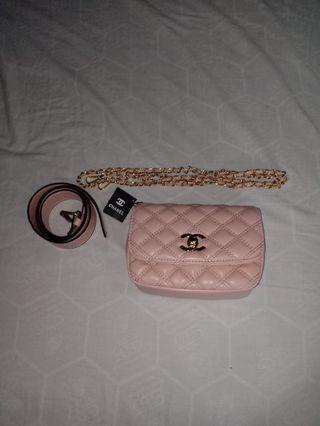 Sale Channel sling bag with belt