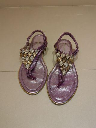 🚚 紫色寶石涼鞋