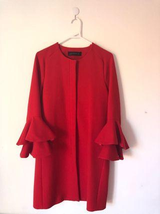 ZARA Red Coat size S (NEW without Tag)