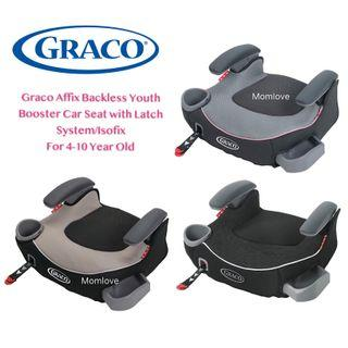 [AUTHENTIC] Ready Stock! BNIB Graco TurboBooster LX Backless Booster Seat with ISOFIX Affix LATCH (Youth Booster Car Seat for Kid Children Age 4-10 Years Old)