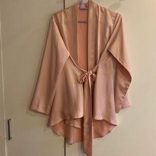 Peach Kimono Wrap Top