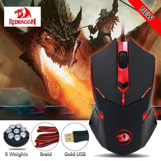 f0b7cf4d5fc Red Dragon Shark 2 Game Mouse 79/5000 Redragon M601 CENTROPHORUS-3200 DPI  light