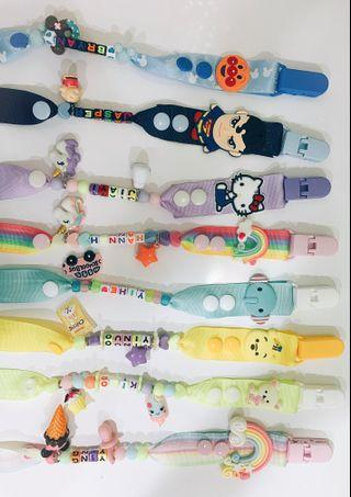 🚚 Customised Pacifier Clips