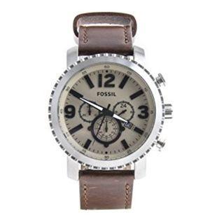 Fossil Brown Leather Chronograph Wrist Men's Watch Gift Idea BQ2101