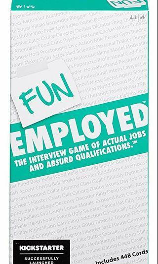 Funemployed Fun Employed Card Game