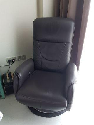 Genuine Strong Buffalo Leather Recliner Chair