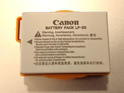 Canon lp e8 lp-e8 battery 電池 eos 650d 700d 佳能