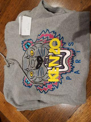 Kenzo genuine authentic jumper hoodie grey tiger size small with receipt