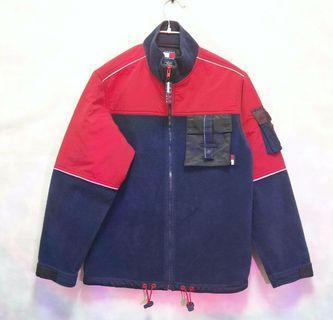 Tommy Hilfiger 毛料外套    (Vintage 古著 異材質 拼接 毛料