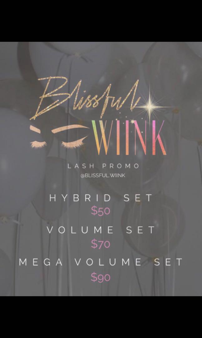 10$ off all Full sets. Follow @blissful.wiink on instruction