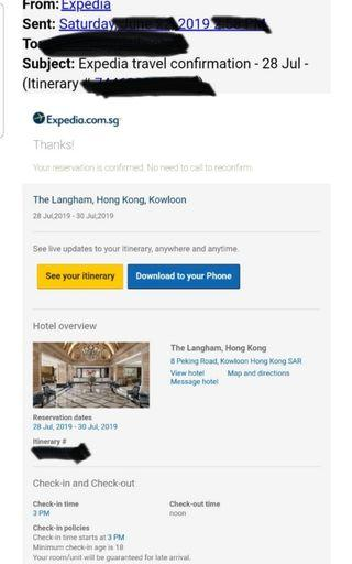 Langham Hotel TST 2night stay