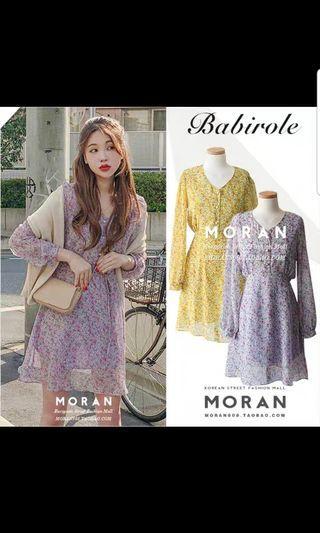 紫色碎花連身裙 連衣裙 purple floral one piece dress brand new