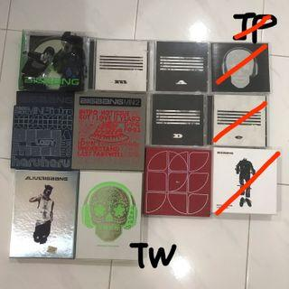 BigBang / 2NE1 / GD / Taeyang / Seungri Albums