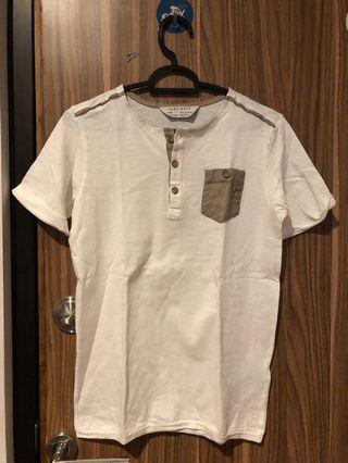 Zara boys white shirt