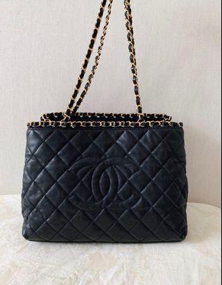100% Authentic CHANEL Chain Me Around Tote/Shoulder Bag, Black, Full Set with Receipt