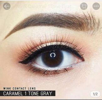 Caramel 1 Tone Grey 0 Degree Contact Lens