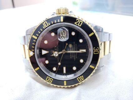 Rolex Submariner 16613 金鋼