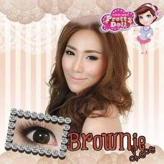 Brownie Choco 0 Degree Contact Lens
